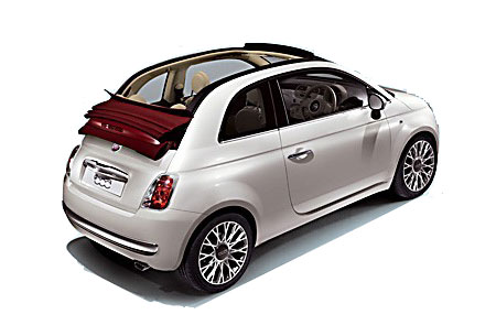 fiat 500 cabrio automatic motor inn santorini rental system. Black Bedroom Furniture Sets. Home Design Ideas